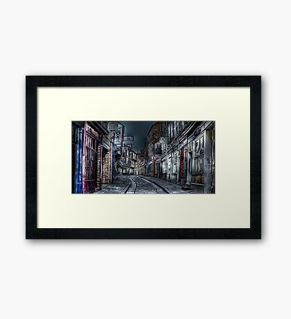 Night in the Shambles York Framed Print