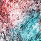Red and Blue Frost Abstract by pjwuebker