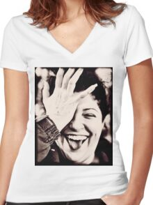 Laughter Women's Fitted V-Neck T-Shirt