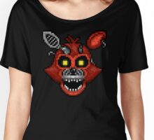 Adventure Nightmare Foxy - FNAF World - Pixel Art Women's Relaxed Fit T-Shirt