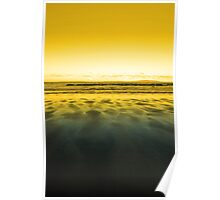 windswept sunset winter beach view Poster