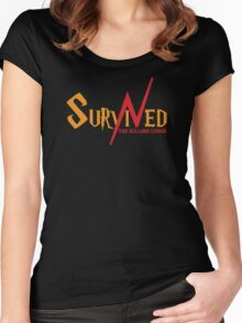 SURVIVED THE KILLING CURSE (second version) Women's Fitted Scoop T-Shirt