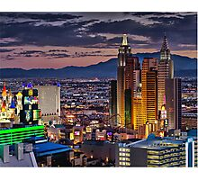Vegas Lights Photographic Print