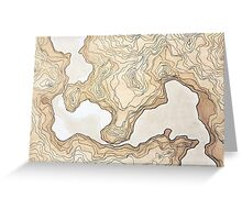maps from a inexistent world  Greeting Card
