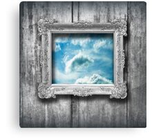 Window to the blue Canvas Print