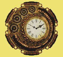 Steampunk Time Machine Kids Tee