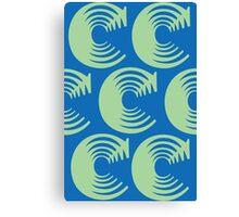 Typographic Continuum X: Caslon C Canvas Print