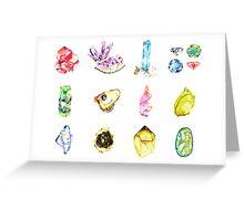 Watercolor Birthstones Greeting Card