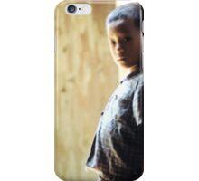 Boy in Commune Doorway iPhone Case/Skin
