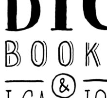 I Like Big Books (White) Sticker