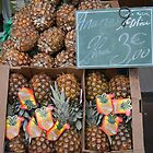 Pineapples on French market by Juliangreenwood