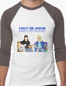 WAYNE'S WORLD - Party On! Men's Baseball ¾ T-Shirt