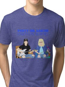WAYNE'S WORLD - Party On! Tri-blend T-Shirt