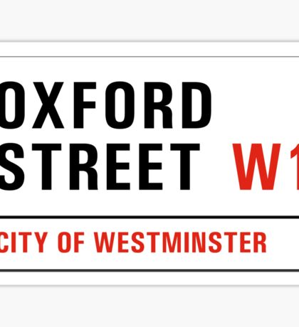 Oxford Street, London Street Sign, UK Sticker