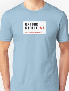 Oxford Street, London Street Sign, UK Unisex T-Shirt