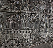 Naval battle scene, Angkor Wat by docnaus