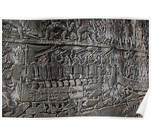 Naval battle scene, Angkor Wat Poster