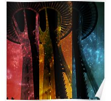 Colorful Space Needle Poster