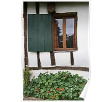 French cottage window Poster