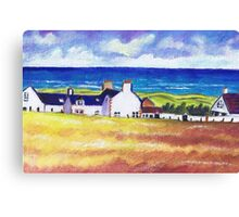 White Cottages at Balmedie Canvas Print