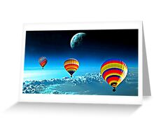 Hot Air Ballons Above The Clouds  Greeting Card