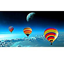 Hot Air Ballons Above The Clouds  Photographic Print