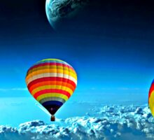 Hot Air Ballons Above The Clouds  Sticker