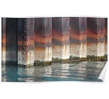 Colorful Retaining Wall Poster
