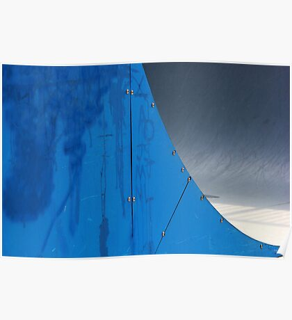 Half Pipe Abstract 1 Poster