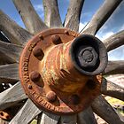 The Old Wagon Wheel by Kathy Baccari