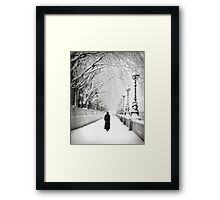 Figures in the Snow  Framed Print