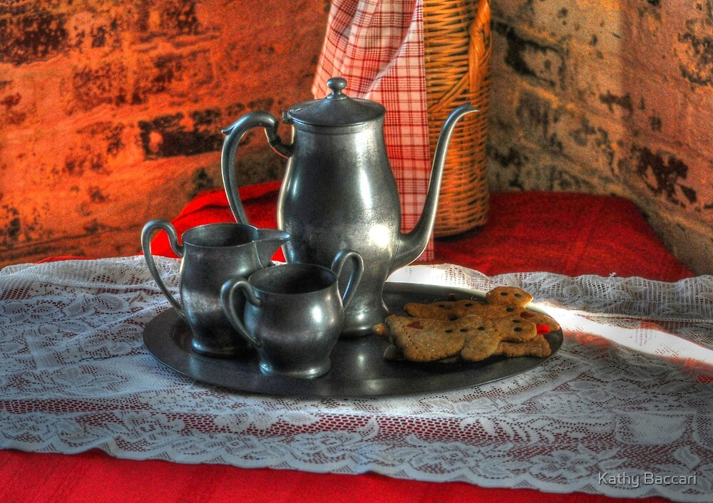 Tea And Gingerbread by Kathy Baccari