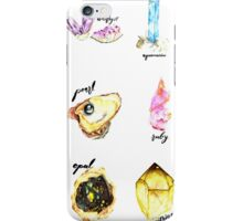 Watercolor Birthstones With Calligraphy iPhone Case/Skin