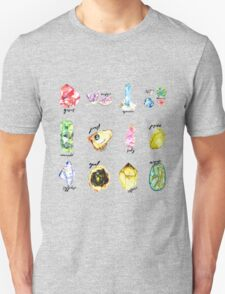 Watercolor Birthstones With Calligraphy Unisex T-Shirt