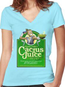 Master Sokka's Cactus Juice Women's Fitted V-Neck T-Shirt