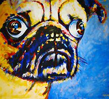 'Martini' Pug by Kelly Telfer