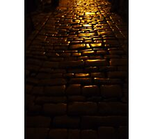 Shining Cobblestones Photographic Print