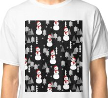Snowman - Night by Andrea Lauren  Classic T-Shirt