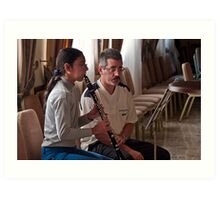Clarinet Lesson --- Palazzo Xara Rabat Malta Art Print