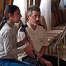 Clarinet Lesson --- Palazzo Xara Rabat Malta by Edwin  Catania