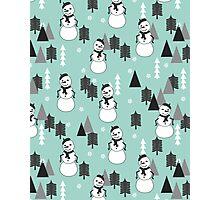 Snowman - Mint by Andrea Lauren  Photographic Print