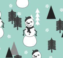 Snowman - Mint by Andrea Lauren  Sticker