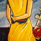 'Lady-in-Waiting for her Harley Man' by Kelly Telfer