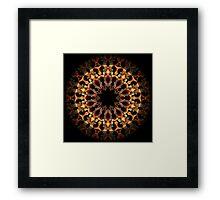 Flame Guitar Kaleidoscope 01 Framed Print