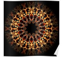 Flame Guitar Kaleidoscope 01 Poster