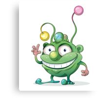 Good-natured Green Monster Canvas Print