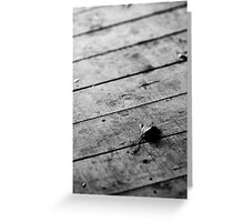 Wooden floor Greeting Card