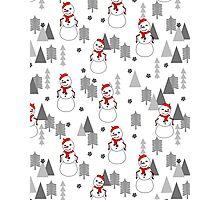 Snowman - White by Andrea Lauren  Photographic Print