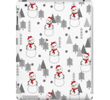 Snowman - White by Andrea Lauren  iPad Case/Skin