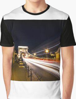 Chain Bridge at night Graphic T-Shirt